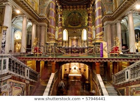 bazilika · mikulás · Róma · bent · épület · festék - stock fotó © Dserra1
