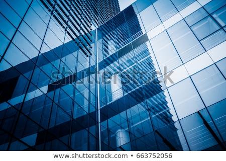Nowoczesne szkła fasada działalności budynku niebo Zdjęcia stock © fotoduki