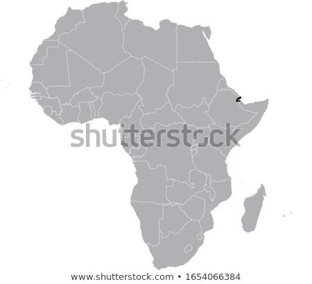 mapa · Djibouti · político · regiones · resumen - foto stock © mayboro1964