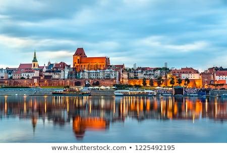 fal · öreg · templom · Lengyelország · kilátás · épület - stock fotó © tarczas
