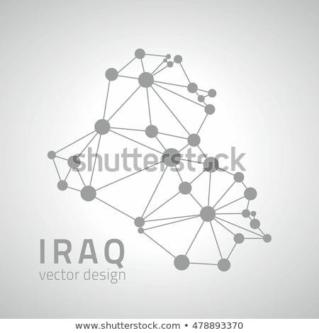 Kaart Irak patroon vector afbeelding Stockfoto © Istanbul2009