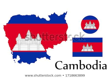 cambodia flag map Stock photo © tony4urban