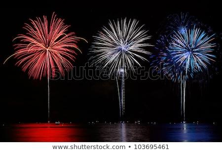 White finale fireworks Stock photo © tilo