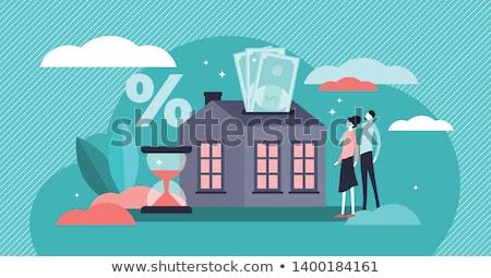 Kredi planlama gelecek aile para Stok fotoğraf © HASLOO