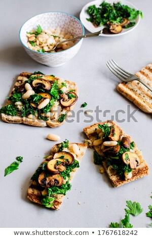 Garlic beans and mushrooms snack Stock photo © Makse