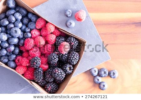 framboises · fraîches · papier · isolé · blanche · alimentaire - photo stock © ozgur