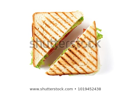 beef salad vegetables cheese and toast stock photo © ironstealth