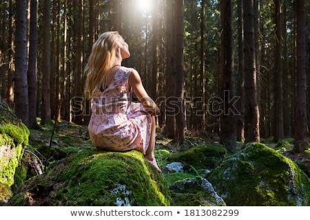 Barefooted blond woman Stock photo © acidgrey