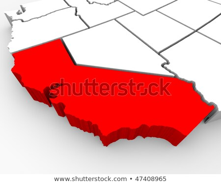California CA USA Red D State Map Stock Photo Iqoncept - Map of the state of california