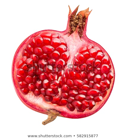 Red Pomegranate Slices Isolated on the White Background Stock photo © maxpro