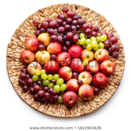 Olgun elma yemek kırmızı sarı Stok fotoğraf © vtls