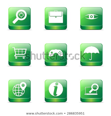SEO Internet Sign Square Vector Green Icon Design Set 10 Stock photo © rizwanali3d