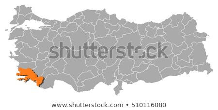 Map of Turkey, Mugla Stock photo © Istanbul2009