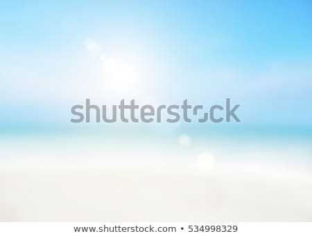 Bulanıklık deniz plaj yeşil mavi yüzey Stok fotoğraf © Yongkiet