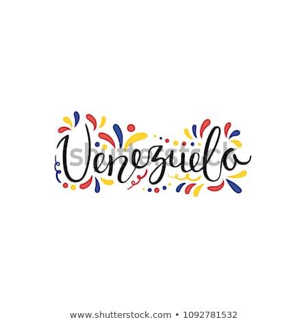 Venezuela zászló póló üzletember mutat üzlet Stock fotó © fuzzbones0