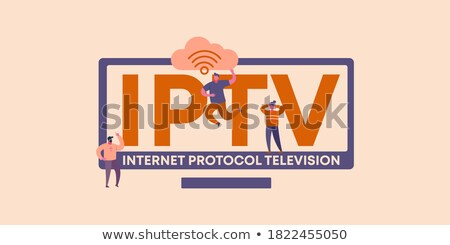 IPTV. Office Working Concept. Stock photo © tashatuvango