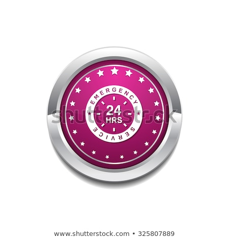 Stock photo: 24 Hours Emergency Service Pink Vector Button Icon