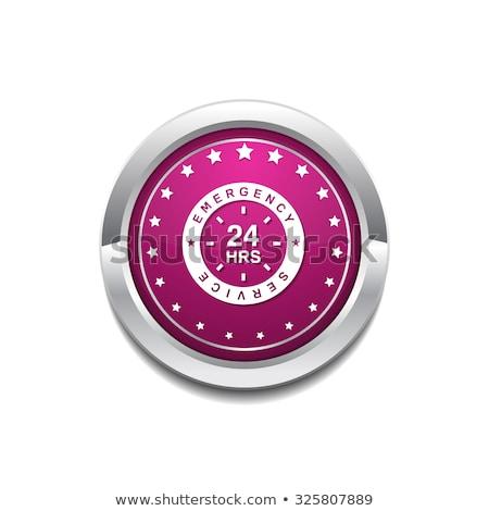 24 緊急 サービス ピンク ベクトル ボタン ストックフォト © rizwanali3d