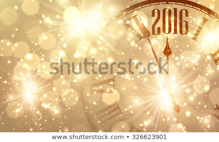 Happy golden new 2016 year, vector illustration stock photo © carodi