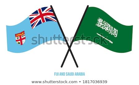 Saoedi-Arabië Fiji vlaggen puzzel geïsoleerd witte Stockfoto © Istanbul2009