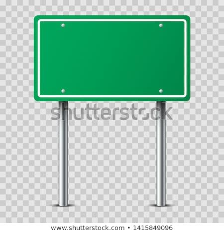 Uyarmak imzalamak yeşil vektör ikon dizayn Stok fotoğraf © rizwanali3d
