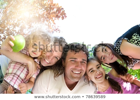happy family in the park in autumn 5 Stock photo © Paha_L