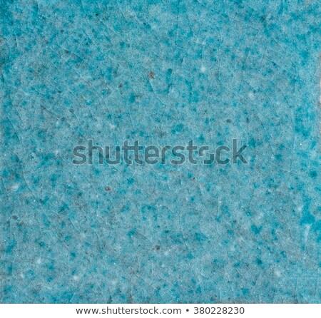 Macro shot of a crackle glaze tile -  Turquoise Stock photo © Zerbor