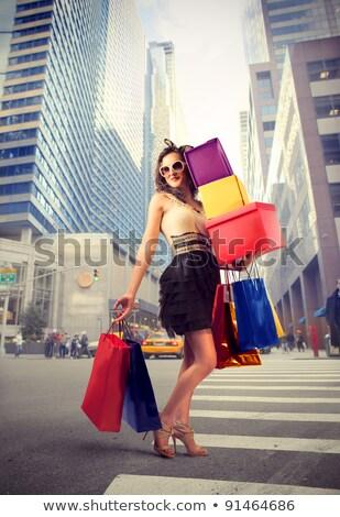 Mulher compras novo óculos cliente estilo Foto stock © wavebreak_media