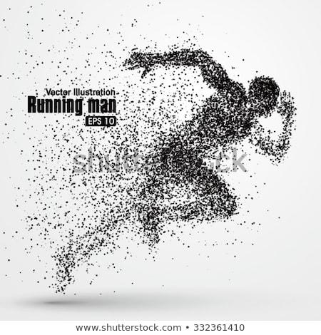 futás · szerkeszthető · férfiak · befejezés · verseny · fitnessz - stock fotó © samoilik