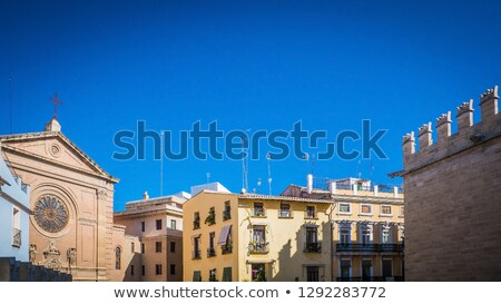 Valencia Spanyolország tér belváros utca művészet Stock fotó © lunamarina