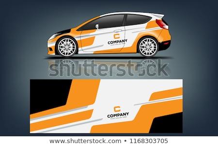 Terv autó fejlett kerekek út nagysebességű Stock fotó © ssuaphoto