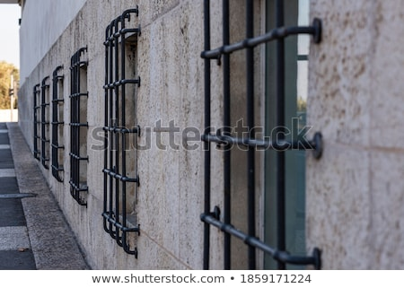 Jailhouse window with iron grille Stock photo © manfredxy