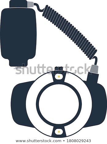icon · draagbaar · cirkel · macro · flash · kleur - stockfoto © angelp