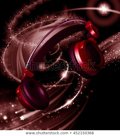 Realistic headphones with stars dust Stock photo © ankarb