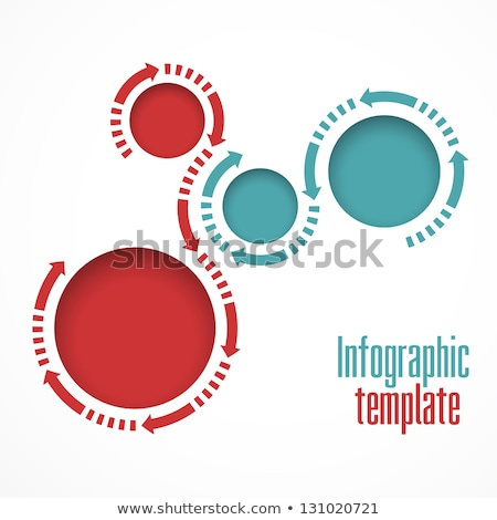 Rounded buttons with circular graphs Stock photo © bluering