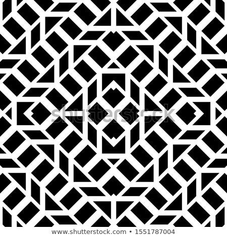 вектора · бесшовный · черно · белые · шаблон · аннотация · геометрический - Сток-фото © CreatorsClub