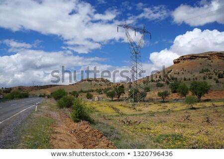 erő · torony · felhők · technológia · fém · kék - stock fotó © tasipas