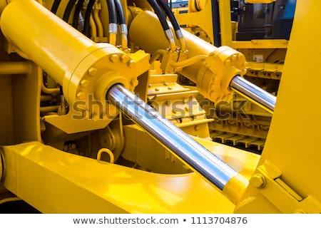 hydraulic connections of a machinery industrial detail stock photo © phantom1311