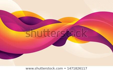 absztrakt · vektor · kék · lila · hullámos · vonalak - stock fotó © sarts