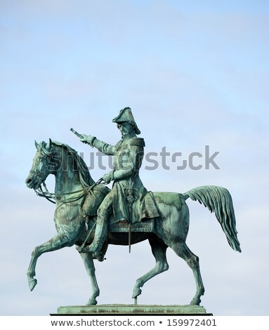 Statue of Charles XIV John former king of Sweden in Stockholm, S Stock photo © vladacanon