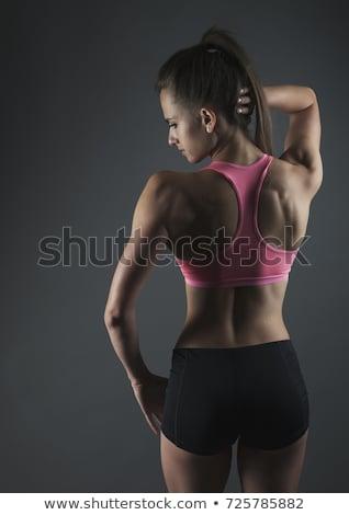 Körper Frau isoliert zurück schöne Frau weiß Stock foto © ssuaphoto