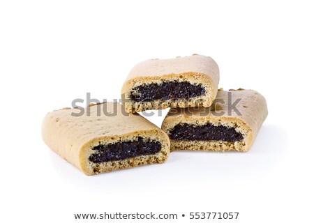 figa · cookie · trzy · biały · deser - zdjęcia stock © stephaniefrey
