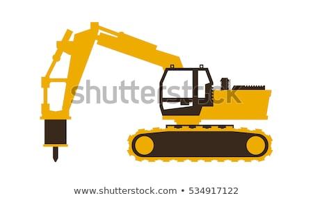 Excavator jack hammer as icon design Stock photo © bluering