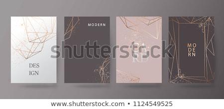 white design with golden roses Stock photo © blackmoon979