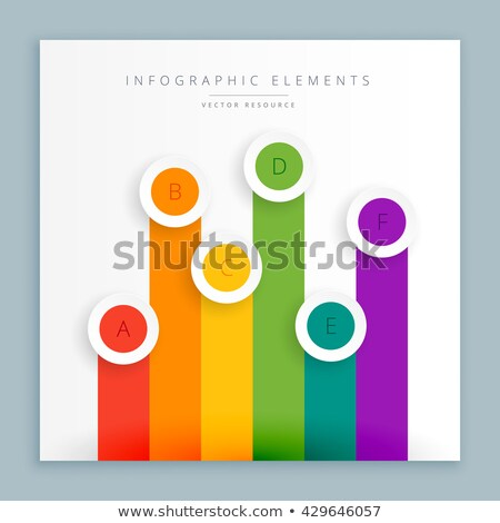 graphical representation of colorful bars Stock photo © SArts