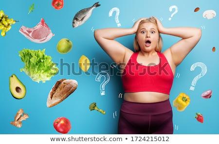 começar · dieta · amanhã · ilustração · saldo - foto stock © adrenalina
