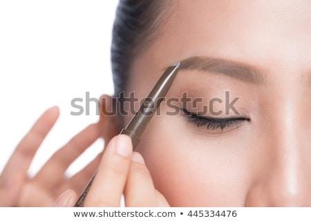 Surpreendente jovem asiático modelo brilhante make-up Foto stock © deandrobot