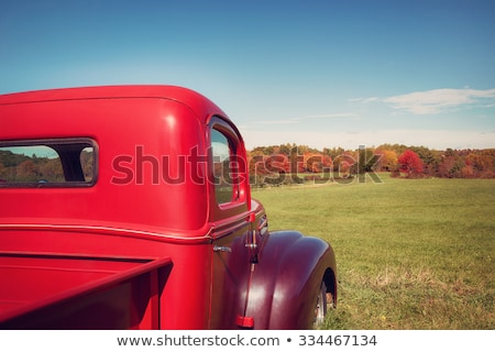 Stock photo: old yellow truck