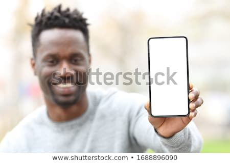 Hands Generic Smart Phone Front Stock photo © albund