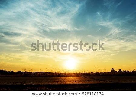 Sunset. Sky clouds background. Ridge Mountains silhouette. Skyli Stock photo © Victoria_Andreas